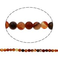 Natürlich rote Achat Perlen, Roter Achat, rund, verschiedene Größen vorhanden, Bohrung:ca. 1mm, verkauft per ca. 15 ZollInch Strang