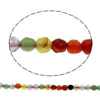 Mischedelstein Perlen, Edelstein, natürlich, facettierte, 4mm, Bohrung:ca. 1mm, ca. 92PCs/Strang, verkauft per ca. 15 ZollInch Strang