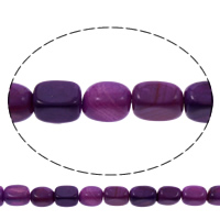 Natürliche violette Achat Perlen, Violetter Achat, Rechteck, 8x12.5x8.5-9x13x9mm, Bohrung:ca. 1mm, ca. 28PCs/Strang, verkauft per ca. 15 ZollInch Strang