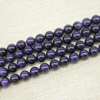 Blaue Goldstein Perlen, blauer Goldsand, rund, synthetisch, verschiedene Größen vorhanden, Länge:ca. 15 ZollInch, ca. 3SträngeStrang/Tasche, verkauft von Tasche