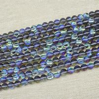 Mode Glasperlen, Glas, rund, bunte Farbe plattiert, verschiedene Größen vorhanden, Länge:ca. 15 ZollInch, verkauft von Tasche