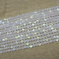 Mode Glasperlen, Glas, rund, bunte Farbe plattiert, Imitation natürlicher Quarz & verschiedene Größen vorhanden & satiniert, Länge:ca. 15 ZollInch, ca. 3SträngeStrang/Tasche, verkauft von Tasche