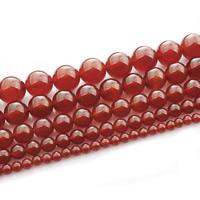 Natürlich rote Achat Perlen, Roter Achat, rund, verschiedene Größen vorhanden, verkauft per ca. 15 ZollInch Strang
