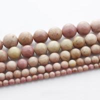 Rhodonit Perlen, rund, natürlich, verschiedene Größen vorhanden, verkauft per ca. 15 ZollInch Strang