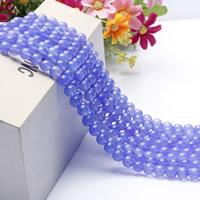 Natürliche violette Achat Perlen, Violetter Achat, rund, verschiedene Größen vorhanden, Länge:ca. 15.5 ZollInch, ca. 2SträngeStrang/Tasche, verkauft von Tasche