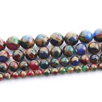 Goldsand Perle, rund, verschiedene Größen vorhanden, farbenfroh, verkauft per ca. 15 ZollInch Strang