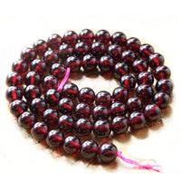 Natürlicher Granat Perlen, rund, Januar Birthstone & verschiedene Größen vorhanden, Grad AAA, Bohrung:ca. 1mm, verkauft per ca. 15 ZollInch Strang