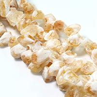 Natürliche gefärbten Quarz Perlen, Natürlicher Quarz, facettierte, aprikosengelb, 18-24x14-18x10-18mm, Bohrung:ca. 1.5mm, ca. 29PCs/Strang, verkauft per ca. 16 ZollInch Strang