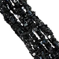 Natürliche gefärbten Quarz Perlen, Natürlicher Quarz, facettierte, schwarz, 5-9x3-8x3-7mm, Bohrung:ca. 1mm, ca. 80PCs/Strang, verkauft per ca. 16 ZollInch Strang