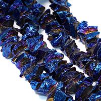 Natürliche Beschichtung Quarz Perlen, Natürlicher Quarz, bunte Farbe plattiert, facettierte, 20-35x4-19x4-17mm, Bohrung:ca. 1mm, ca. 43PCs/Strang, verkauft per ca. 16 ZollInch Strang