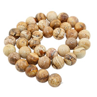 Bild Jaspis Perlen, rund, natürlich, verschiedene Größen vorhanden, Bohrung:ca. 1mm, verkauft per ca. 15 ZollInch Strang