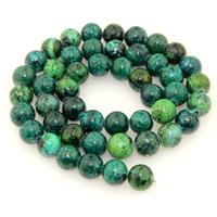 Synthetischer Chrysokoll Perle, rund, verschiedene Größen vorhanden, Bohrung:ca. 1mm, verkauft per ca. 15 ZollInch Strang