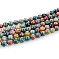 Natürliche Indian Achat Perlen, Indischer Achat, rund, verschiedene Größen vorhanden, Bohrung:ca. 1mm, verkauft per ca. 15 ZollInch Strang