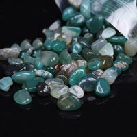 Grüner Achat Perle, Klumpen, kein Loch, 5-12mm, 100G/Tasche, verkauft von Tasche