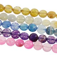 Drachenvenen Achat Perle, flache Runde, keine, 10x5mm, Bohrung:ca. 1mm, ca. 39PCs/Strang, verkauft per ca. 15 ZollInch Strang