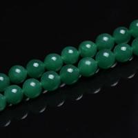 Grüner Aventurin Perle, rund, verschiedene Größen vorhanden, Bohrung:ca. 1mm, verkauft per ca. 15 ZollInch Strang