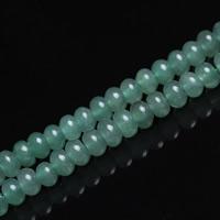 Aventurin Perlen, Grüner Aventurin, Rondell, natürlich, verschiedene Größen vorhanden, Bohrung:ca. 1mm, verkauft per ca. 15 ZollInch Strang