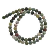 Indischer Achat Perle, rund, verschiedene Größen vorhanden, Bohrung:ca. 1mm, verkauft per ca. 15 ZollInch Strang