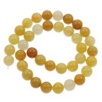 Gelber Aventurin Perle, rund, verschiedene Größen vorhanden, Bohrung:ca. 1mm, verkauft per ca. 15 ZollInch Strang