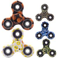 ABS Kunststoff Handspinner, mit Zinklegierung, plattiert, verschiedene Muster für Wahl, frei von Nickel, Blei & Kadmium, 40mm, verkauft von PC