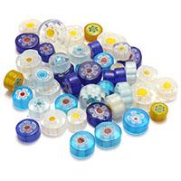 Chevron Glasperlen, gemischt & kein Loch, 7.5-18x7.5-15x5-8mm, 5Taschen/Menge, ca. 50PCs/Tasche, verkauft von Menge