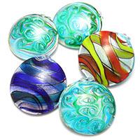 Silberfolie Lampwork Perlen, gemischt, 50-54x50-57x20-33mm, Bohrung:ca. 6-7mm, 2Taschen/Menge, 10PCs/Tasche, verkauft von Menge