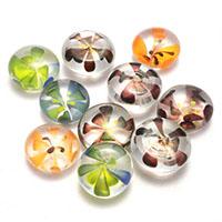 Lampwork Perle, kein Loch, gemischte Farben, 18-20x10-11mm, 5Taschen/Menge, 10PCs/Tasche, verkauft von Menge