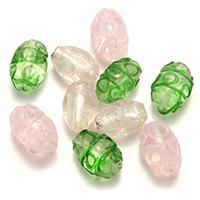 Lampwork Perle, oval, gemischte Farben, 18-20x12-14x12-14mm, Bohrung:ca. 1-2.5mm, 5Taschen/Menge, 20PCs/Tasche, verkauft von Menge