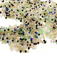 Mode Glasperlen, Glas, rund, gemischte Farben, 2.50mm, Bohrung:ca. 0.5mm, 5Taschen/Menge, 1000PCs/Tasche, verkauft von Menge