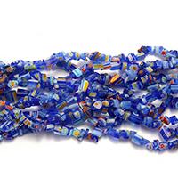 Handgewickelte Perlen, Lampwork, 3-9x3-7x4-5mm, Bohrung:ca. 1mm, Länge:ca. 34 ZollInch, 10SträngeStrang/Menge, ca. 184PCs/Strang, verkauft von Menge