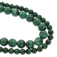 Malachit Perlen, rund, natürlich, verschiedene Größen vorhanden, Grad AAAA, verkauft per ca. 15.5 ZollInch Strang