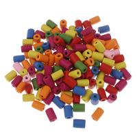 Porzellan Schmuckperlen, Polymer Ton, Zylinder, gemischte Farben, 10x7mm, Bohrung:ca. 1mm, ca. 4800PCs/Tasche, verkauft von Tasche