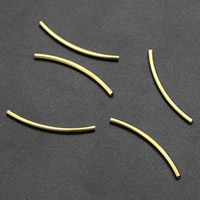 Messing Gebogene Rohr Perlen Einstellung, plattiert, verschiedene Größen vorhanden, keine, frei von Nickel, Blei & Kadmium, 1000PCs/Tasche, verkauft von Tasche