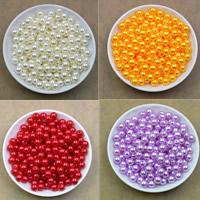 ABS-Kunststoff-Perlen Perle, rund, keine, 8mm, Bohrung:ca. 2.2mm, 100PCs/Tasche, verkauft von Tasche