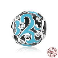 Thailand European Perlen, Trommel, verschiedene Verpackungs Art für Wahl & ohne troll & Emaille & mit kubischem Zirkonia & hohl, frei von Nickel, Blei & Kadmium, Bohrung:ca. 4.5mm, verkauft von PC