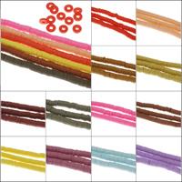 Harz Schmuckperlen, Volltonfarbe, keine, 5x1mm, Bohrung:ca. 1mm, Länge:ca. 15.5 ZollInch, 10SträngeStrang/Tasche, ca. 315PCs/Strang, verkauft von Tasche