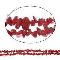 SteinKorn Perle, gefärbt, 4-13mm, Bohrung:ca. 1mm, verkauft per ca. 32 ZollInch Strang