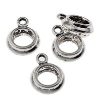Zinklegierung Stiftöse Perlen, antik silberfarben plattiert, frei von Blei & Kadmium, 10x13.50x4mm, Bohrung:ca. 2mm, 6mm, 20PCs/Tasche, verkauft von Tasche
