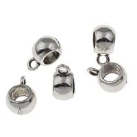 Zinklegierung Stiftöse Perlen, Trommel, antik silberfarben plattiert, frei von Blei & Kadmium, 9.50x13x7mm, Bohrung:ca. 2mm, 5mm, 20PCs/Tasche, verkauft von Tasche