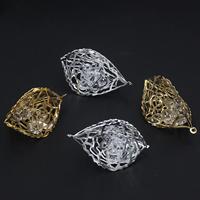 KRISTALLanhänger, Eisen, mit Kristall, plattiert, facettierte & hohl, keine, frei von Blei & Kadmium, 47x28mm, Bohrung:ca. 1.5mm, 10PCs/Tasche, verkauft von Tasche