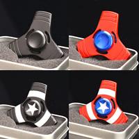 Finger Hand Spinner Gyroskop, Aluminium, Spritzlackierung, verschiedene Muster für Wahl, frei von Nickel, Blei & Kadmium, 64x14mm, verkauft von PC