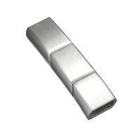 Edelstahl Magnetverschluss, Rechteck, plattiert, keine, 36x10x7mm, Bohrung:ca. 5x8mm, 5PCs/Menge, verkauft von Menge