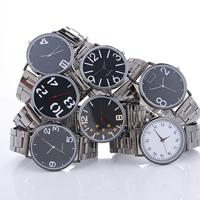 Damen Armbanduhr, Zinklegierung, mit Glas, plattiert, verschiedene Muster für Wahl & für Frau, frei von Nickel, Blei & Kadmium, 40x6mm, Länge:ca. 8.2 ZollInch, verkauft von PC
