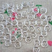 Synthetischer Quarz Perlen, Kreisring, klar, 8mm, Bohrung:ca. 3-4mm, 30PCs/Tasche, verkauft von Tasche