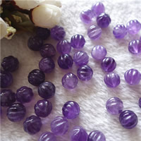 Natürliche Amethyst Perlen, rund, Februar Birthstone & gewellt, 12mm, Bohrung:ca. 0.5-1mm, verkauft von PC