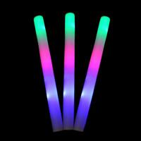 PE Schaumstoff Licht Stab, plattiert, LED, farbenfroh, 47x4cm, verkauft von PC