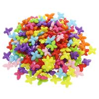 Volltonfarbe Acryl Perlen, Schmetterling, gemischte Farben, 14.50x10x4mm, Bohrung:ca. 1mm, 500G/Tasche, verkauft von Tasche