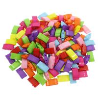 Volltonfarbe Acryl Perlen, gemischte Farben, 9x17.50x5mm, Bohrung:ca. 1mm, 500G/Tasche, verkauft von Tasche