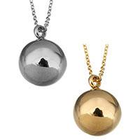 Edelstahl Schmuck Halskette, mit Verlängerungskettchen von 2lnch, rund, plattiert, Oval-Kette & für Frau, keine, 16x21mm, 1.5mm, verkauft per ca. 18 ZollInch Strang