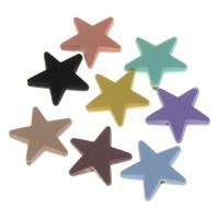 Volltonfarbe Acryl Perlen, Stern, gummierte, keine, 22x5mm, Bohrung:ca. 1mm, 500PCs/Tasche, verkauft von Tasche